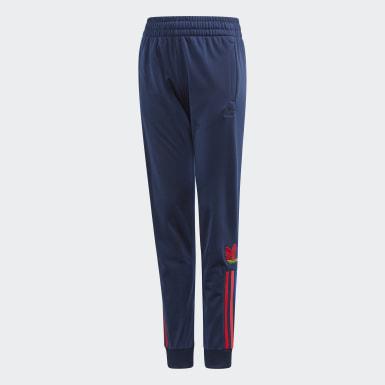 Pantalon de survêtement Adicolor 3D Trefoil Bleu Enfants Originals