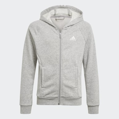 Girls Training Grey Bold Hooded Track Suit