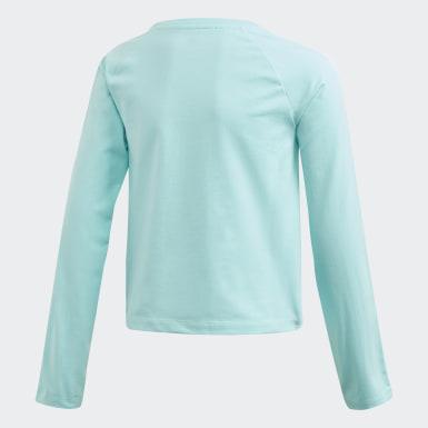 Dievčatá Originals modrá Tričko 3-Stripes Cropped