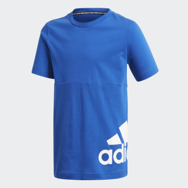 Boys Sport Inspired Blue Must Haves Big Logo Tee