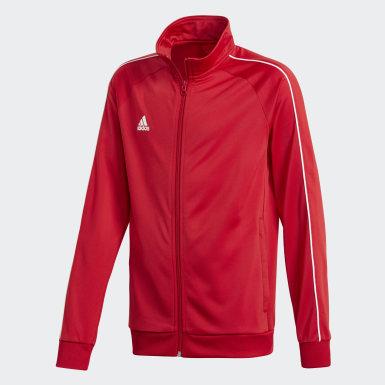 Kinder Training Core 18 Jacke Rot