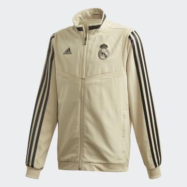 Jungen Fußball Real Madrid Präsentationsjacke Gold