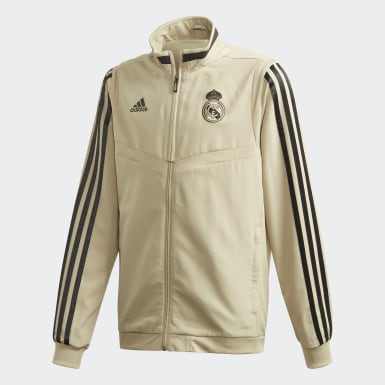 Youth 8-16 Years Football Gold Real Madrid Presentation Track Top