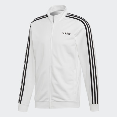 Veste de survêtement Essentials 3-Stripes Tricot blanc Hommes Essentials