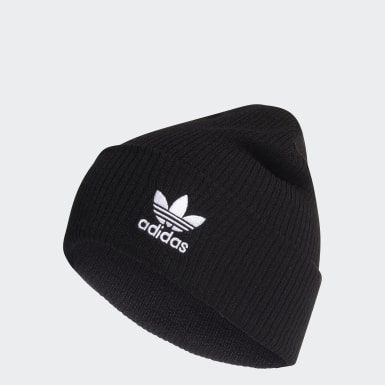 Originals Black Adicolor Ribbed Cuff Beanie