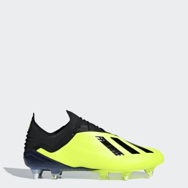 Football Yellow X 18.1 Soft Ground Boots