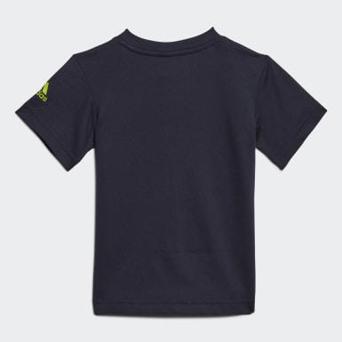 Camiseta Logo (UNISEX) Azul Kids Training