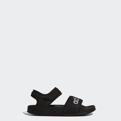 Children Yoga Black Adilette Sandals
