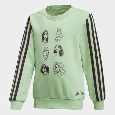 Girls Sport Inspired Green Disney Crewneck Sweatshirt