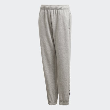 Pantalón Essentials Linear Gris Niño Athletics