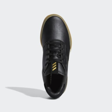 Kids Golf Black Adicross Retro Shoes