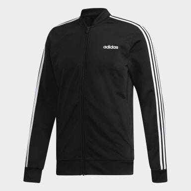 Männer Athletics 3-Streifen Trainingsanzug Schwarz