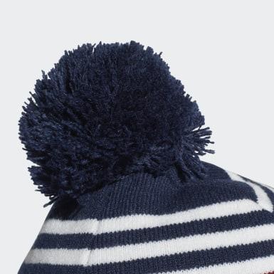 Bonnet Adicolor Jacquard Pompom Bleu Originals