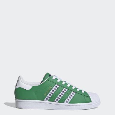 Chaussure Superstar vert Originals