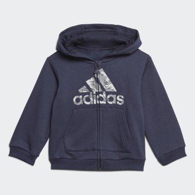 Ensemble Fleece Hooded Jogger Bleu Enfants Training