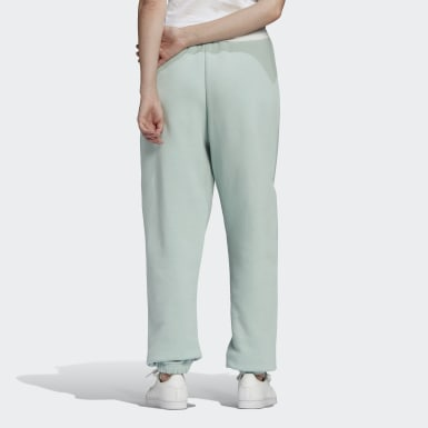 Women Originals Green Cuffed Pants