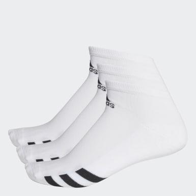 ผู้ชาย กอล์ฟ สีขาว ถุงเท้าหุ้มข้อ (3 คู่)