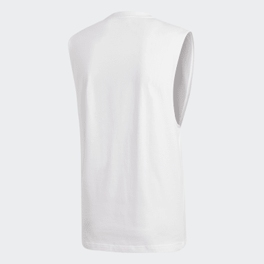 Musculosa Must Haves Badge of Sport Blanco Hombre Training