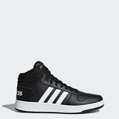 Men Essentials Black Hoops 2.0 Mid Shoes