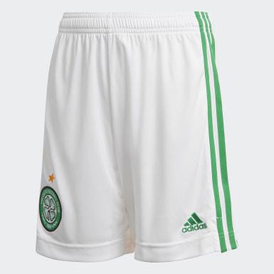 Boys Fodbold Hvid Celtic FC 20/21 hjemmebaneshorts