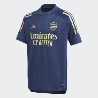 Kids Football Blue Arsenal Training Jersey