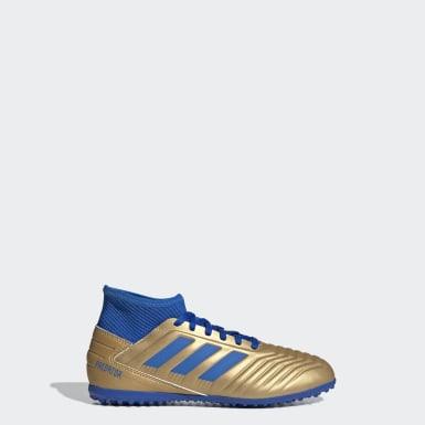 Boys Football Gold Predator Tango 19.3 Turf Boots