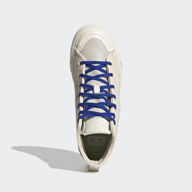 Sapatos Nizza Hi RF Pharrell Williams Bege Originals