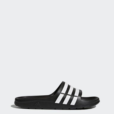 Men's Essentials Black Duramo Slides
