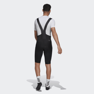 Men Cycling Black The Padded Cycling Bib Shorts