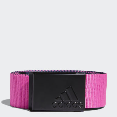 Men Golf Pink Reversible Web Belt