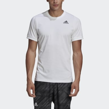Heren Tennis Wit FREELIFT SOLID TENNIS T-SHIRT HEAT.RDY