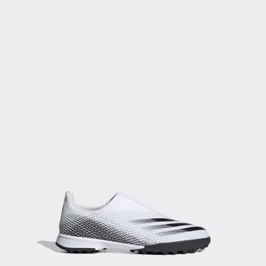 Børn Fodbold Hvid X Ghosted.3 Laceless Turf støvler