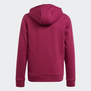 Girls Training Burgundy Must Haves Winter Logo Full-Zip Hoodie