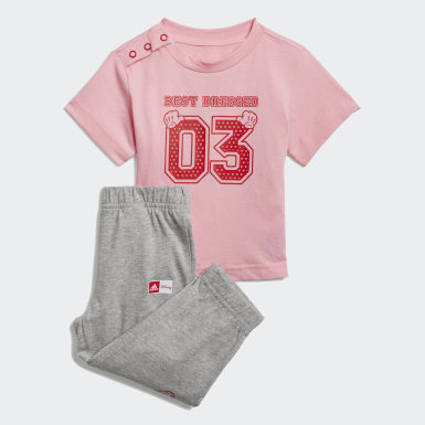 Calça e Camiseta adidas x Disney Rosa Kids Sport Inspired