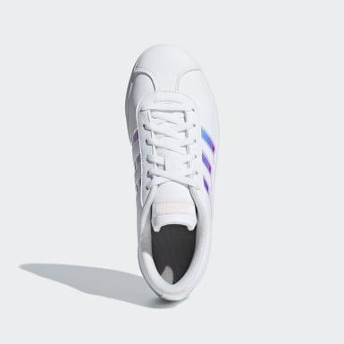 Children Sport Inspired White VL Court 2.0 Shoes