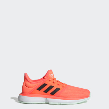 Youth Tennis Orange SoleCourt Shoes