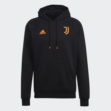 Männer Fußball Juventus Turin Travel Hoodie Schwarz