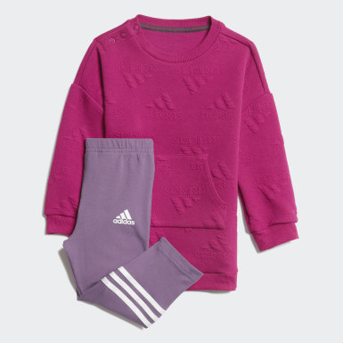 Girls Training Purple Winter Dress Set