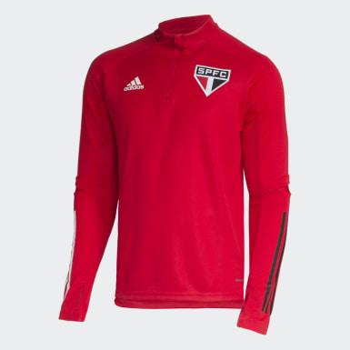 Blusa Treino São Paulo FC Vermelho Homem Futebol