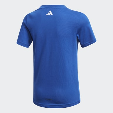 Boys Training Blue Cotton T-Shirt