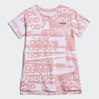 French Terry Print Tee Dress