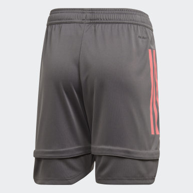 Kinder Fußball Real Madrid Trainingsshorts Grau