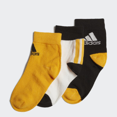 Kids Running White Ankle Socks 3 Pairs