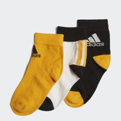 Děti Běh bílá Ponožky Ankle – 3 páry