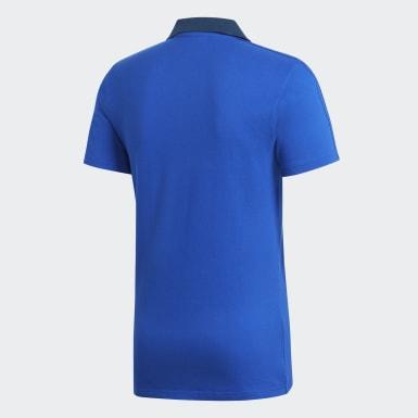Männer Fußball Condivo 18 Cotton Poloshirt Blau