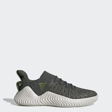 Men Training Green Alphabounce Trainer Shoes