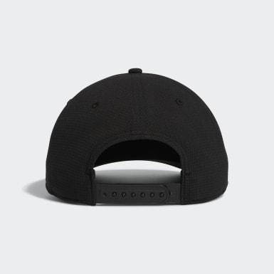 Men Golf Black Circle Patch Snapback Hat
