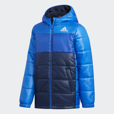 Kinder Training Padded Jacke Blau