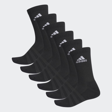 Training Zwart Gevoerde Sokken 6 Paar