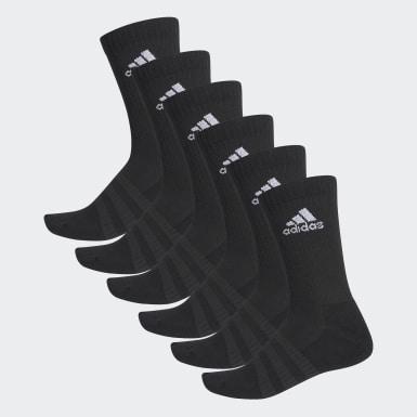 Trénink černá Ponožky Cushioned Crew – 6 párů